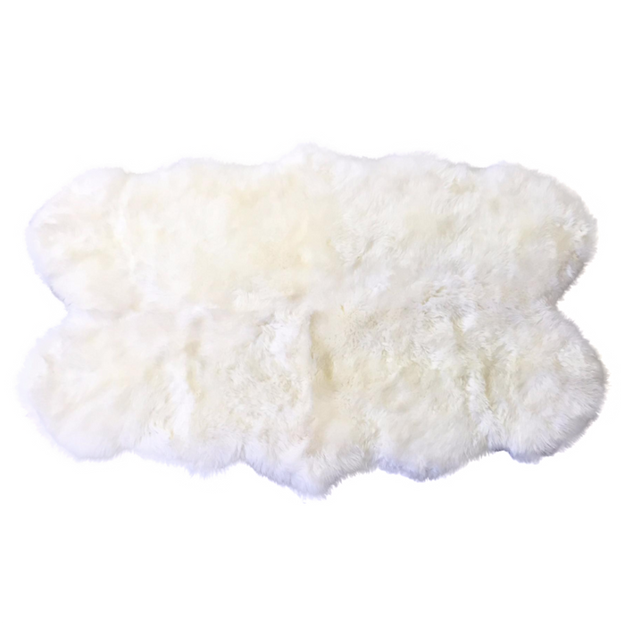 New Zealand Sheepskin Quad Rug - Ivory
