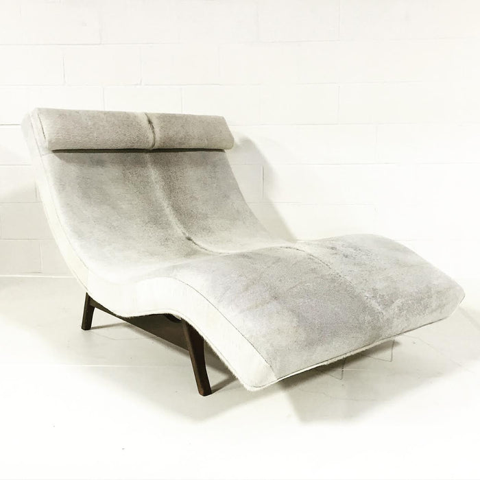 Adrian Pearsall Wave Chaise Lounge in Brazilian Cowhide - FORSYTH