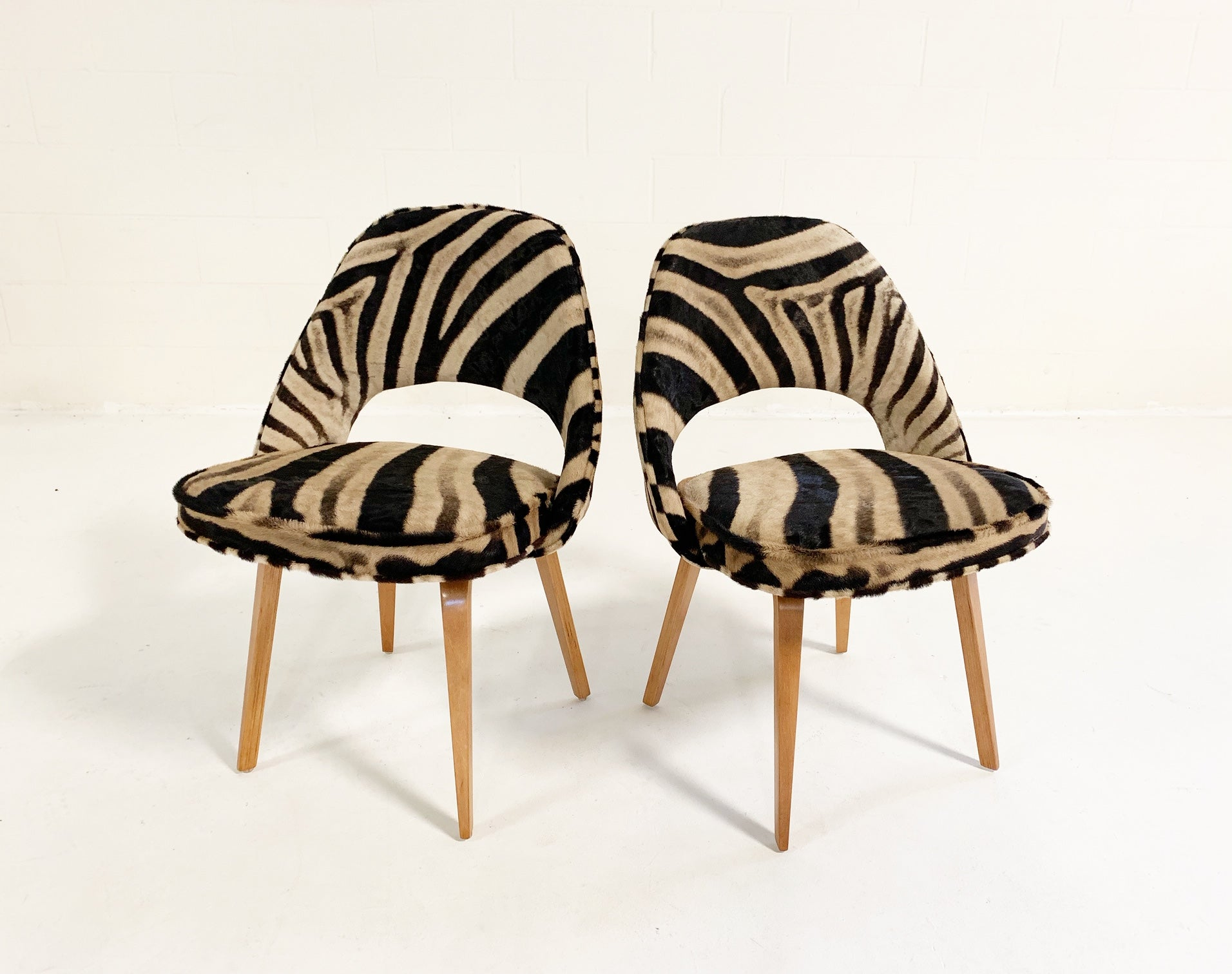 Executive Chairs in Zebra Hide, pair - FORSYTH