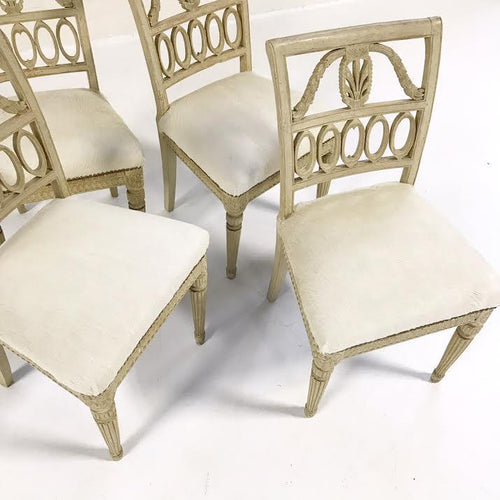 Antique Swedish Chairs in Brazilian Cowhide, set of 4 - FORSYTH