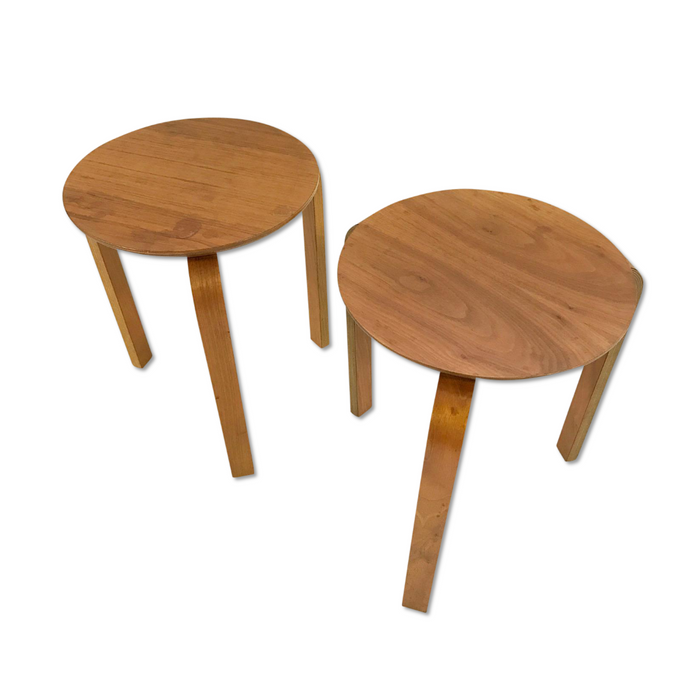Vintage Danish Stacking Side Tables - Pair