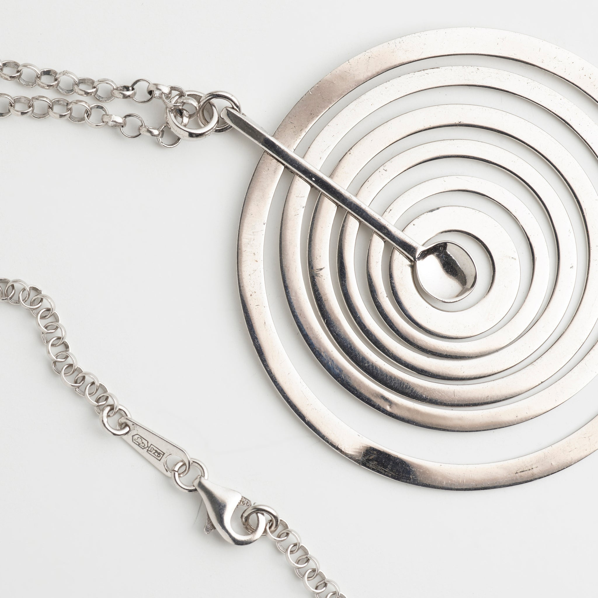 Silver Moon Pendant Necklace