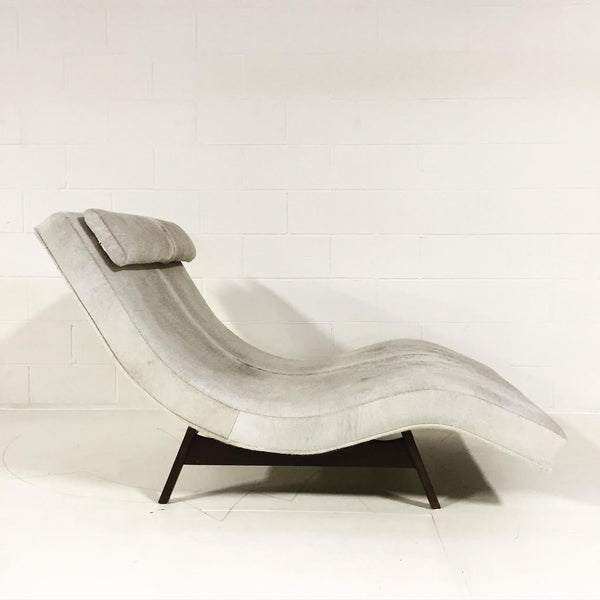 Wave Chaise Lounge in Brazilian Cowhide - FORSYTH
