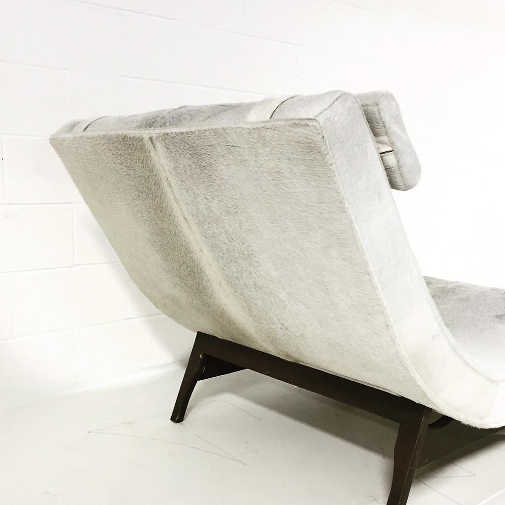 Adrian Pearsall Wave Chaise Lounge in Brazilian Cowhide - FORSYTH : wave chaise - Sectionals, Sofas & Couches