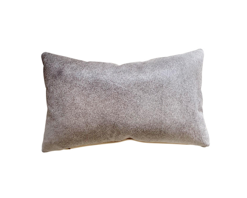"Salt and Pepper Cowhide Pillow, 21x13"" - FORSYTH"