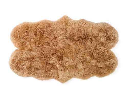 New Zealand Sheepskin Quad Rug, Tan - FORSYTH