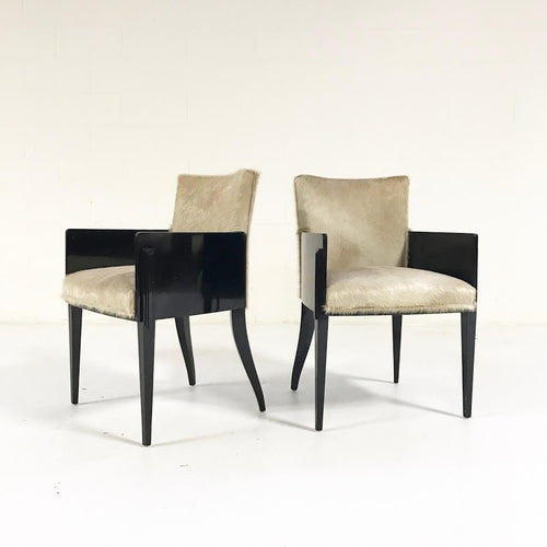 Art Deco Chairs in Brazilian Cowhide, pair - FORSYTH