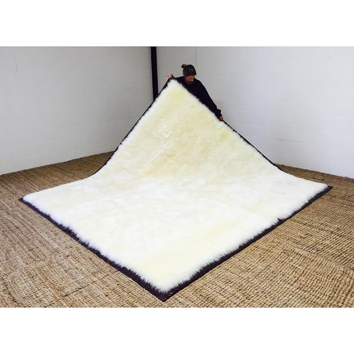 Luxurious Sheepskin Area Rug - 9 x 9.5 feet - FORSYTH