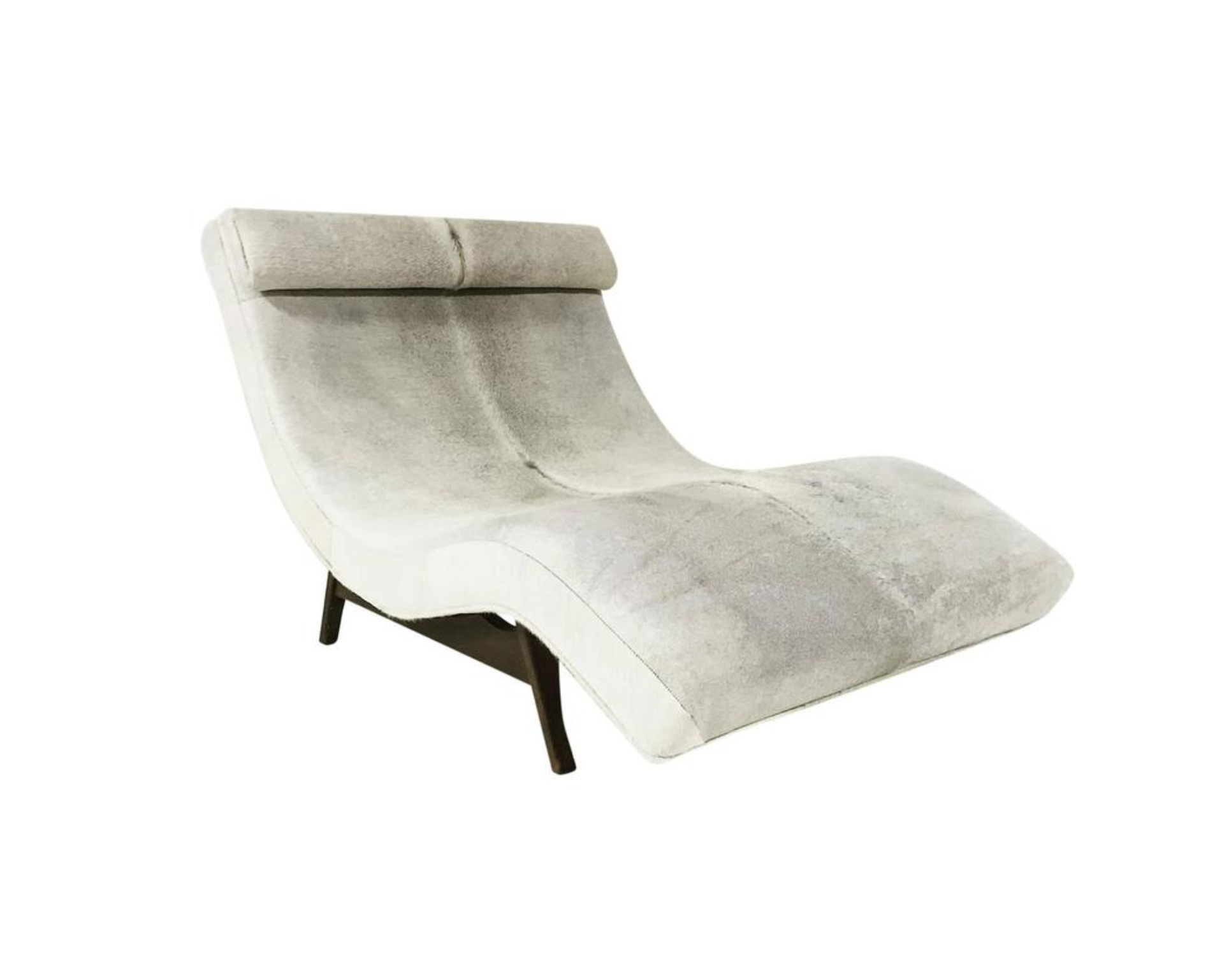 Wave Chaise Lounge In Brazilian Cowhide Forsyth
