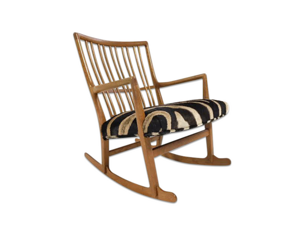 ML-33 Rocking Chair in Zebra Hide - FORSYTH