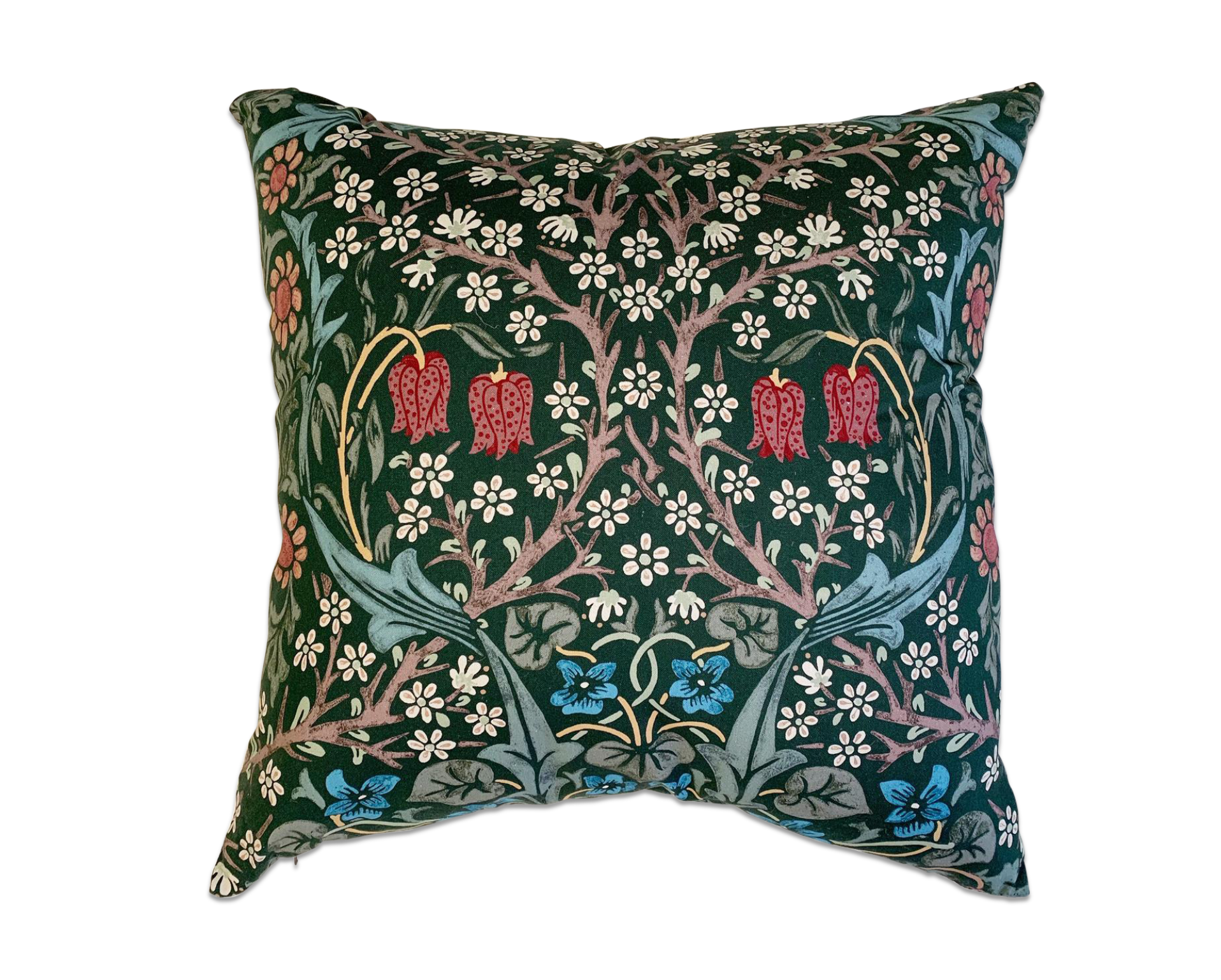 William Morris Blackthorn Pillow, 20""
