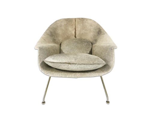 Womb Chair in Brazilian Cowhide - FORSYTH