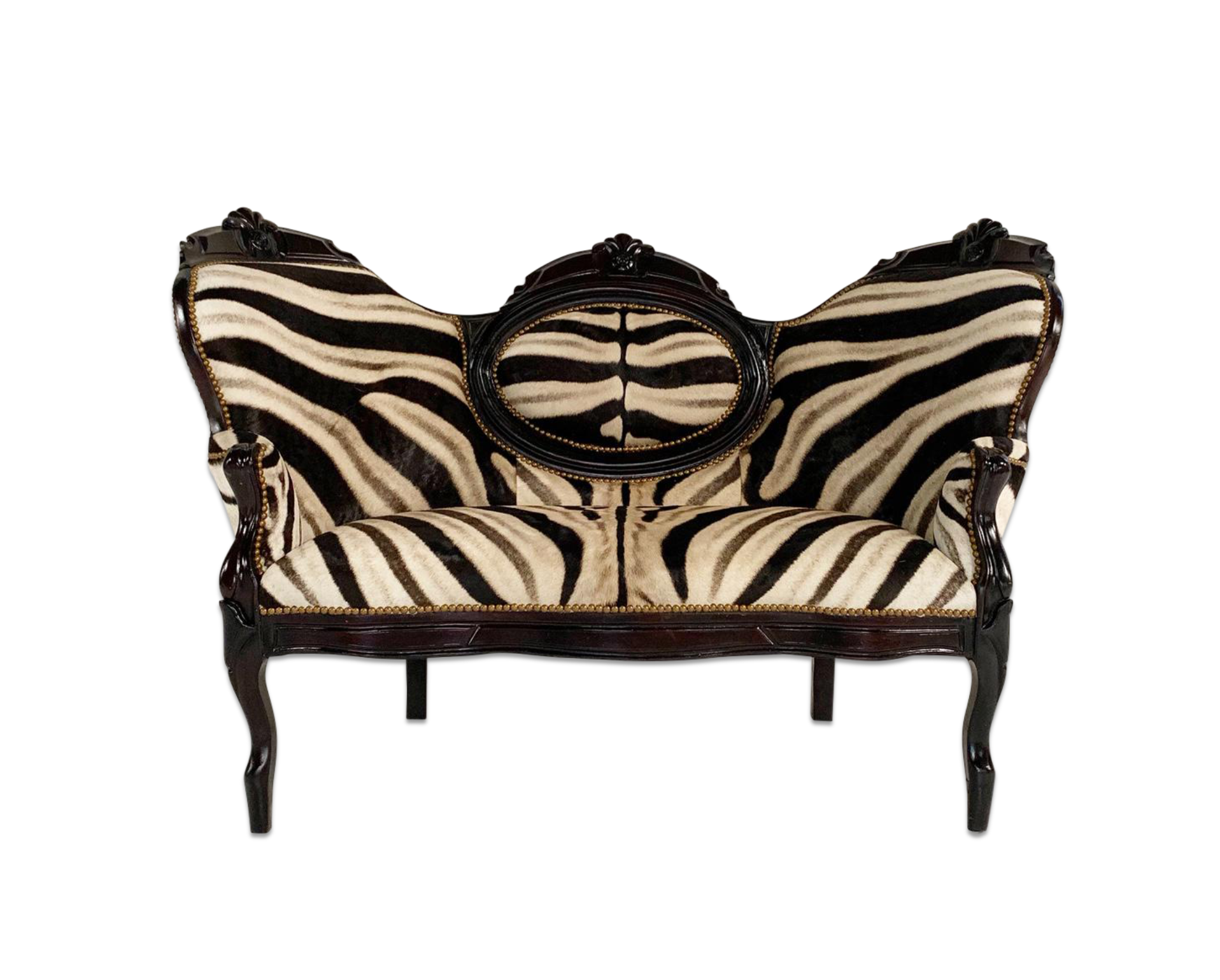 Antique Settee in Zebra Hide - FORSYTH