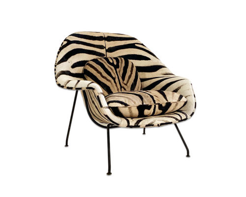Womb Chair in Zebra Hide - FORSYTH