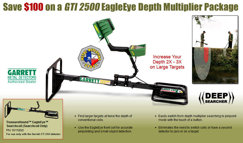 GTI 2500 TreasureHound EagleEye Depth Multiplier Package