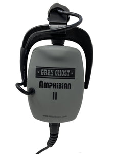 DetectorPro Gray Ghost Amphibian II Headphones for Garrett AT Max Pro Gold ATX Infinium Seahunter