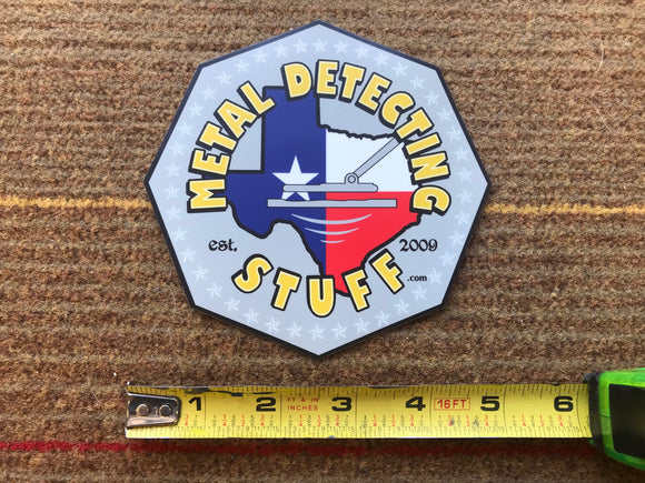 Metal Detecting Stuff Logo Window Sticker