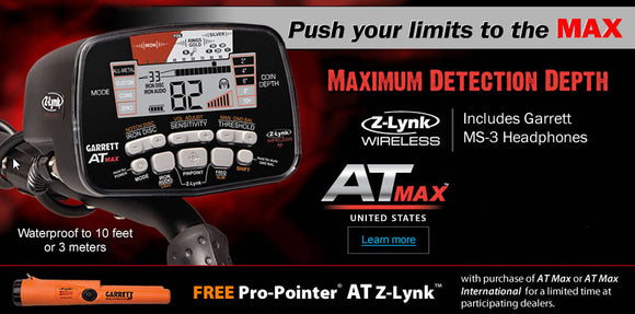 Garrett AT Max Fall Special with FREE Pro-Pointer AT Z-Lynk