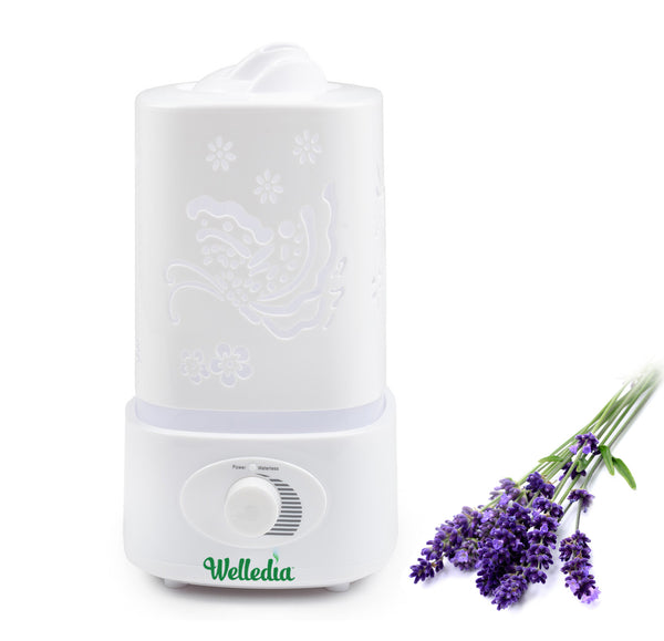Welledia Twilight Ultrasonic Essential Oil Diffusers + Humidifier + Night Light (1800 ml) -#WEL-845