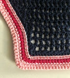 Navy with Hot Pink and Light Pink Trim