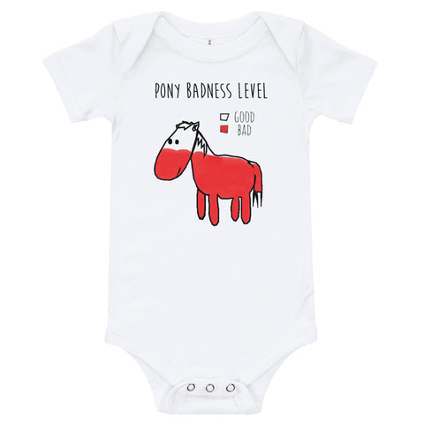Pony Badness Level Diaper Shirt