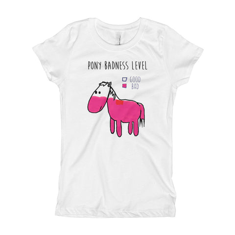 Pony Badness Level Girls Tee