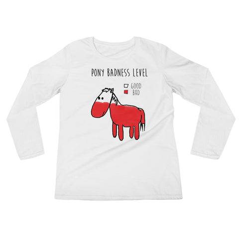 Bad Pony Long Sleeve Tee