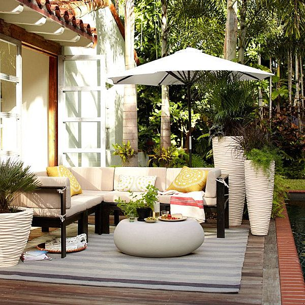 Outdoor Area Rugs, Furniture and Lighting