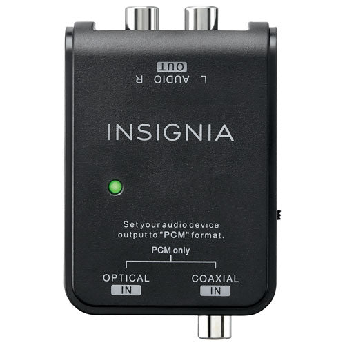 INSIGNIA Optical/Coax Digital-to-Analog Converter