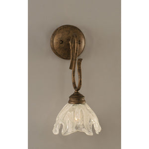 "Wall Sconce Shown In Bronze Finish With 7"""" Italian Ice Glass"