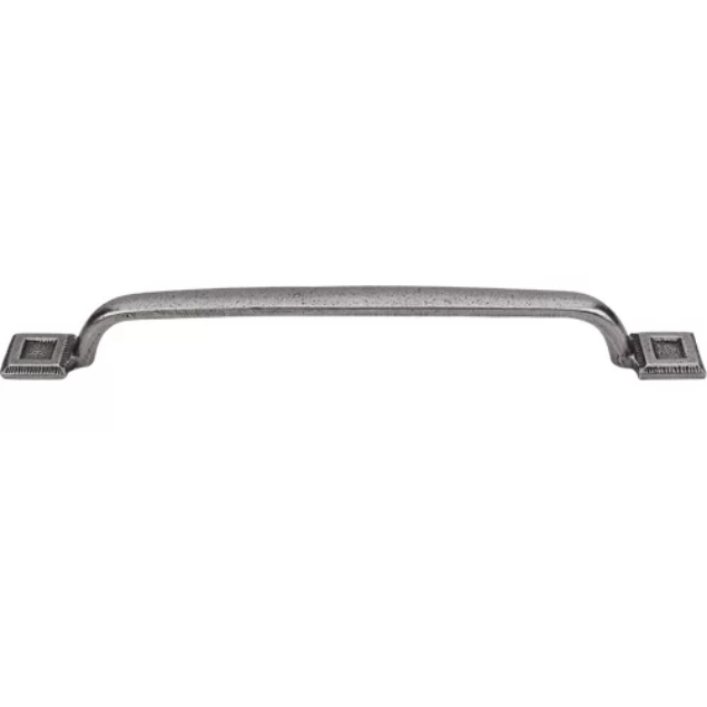 "Britannia Square Inset 8"" Centre Bar Pull Cast Iron"