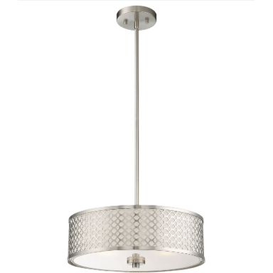 Drum Chandelier in Brushed Nickel