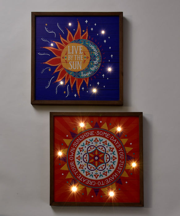 LED Sun Wall Plaque,  Two Styles, Sold Separately
