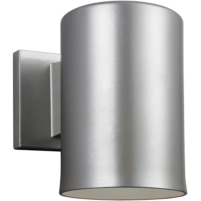 Bullets 9 inch Painted Brushed Nickel Outdoor Wall Lantern