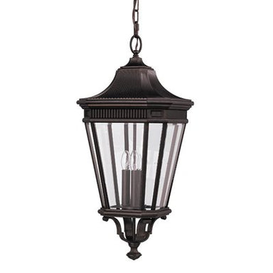 Cotswold Lane Exterior Hanging Pendant in Black