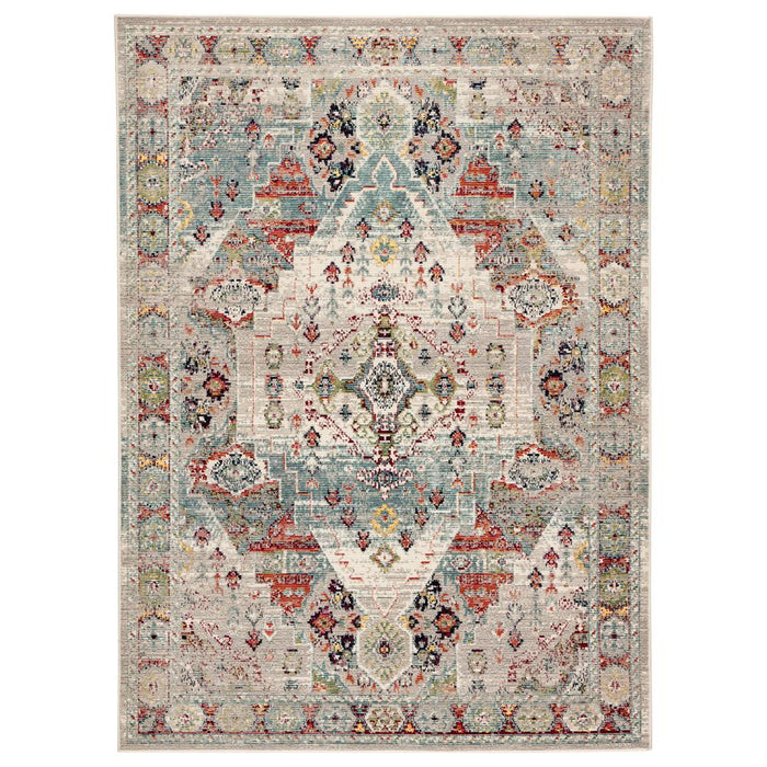 "2'6"" x 8' Indie Medallion  Multicolor Indoor/Outdoor Runner"