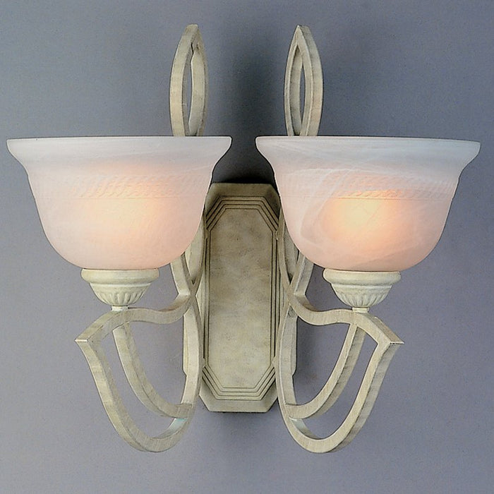 2 Light Wall Sconce In Sand White