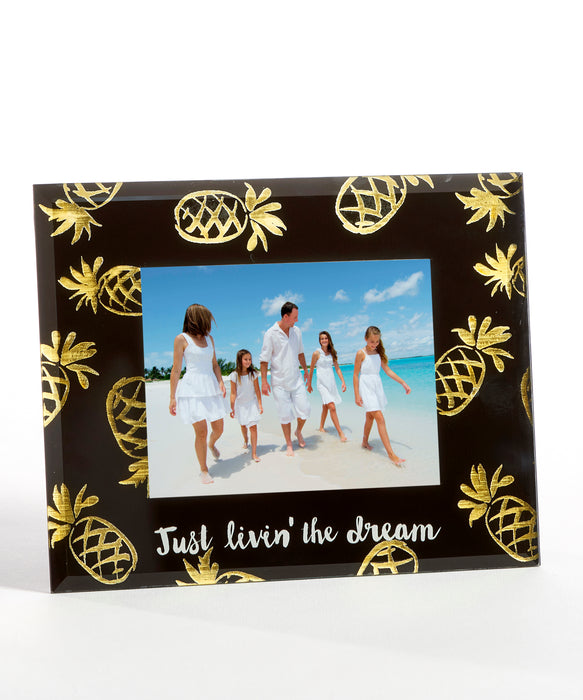 Glass Photo Frame - Pineapples
