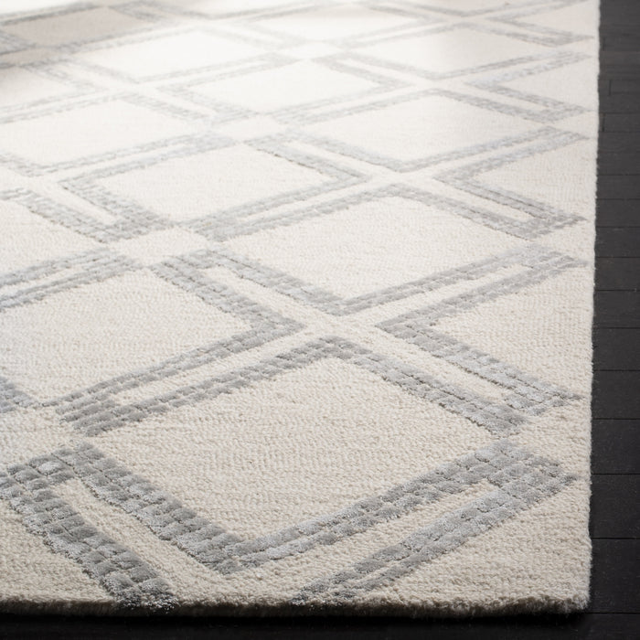 4' x 6' Bellagio Ivory & Silver Wool Rug