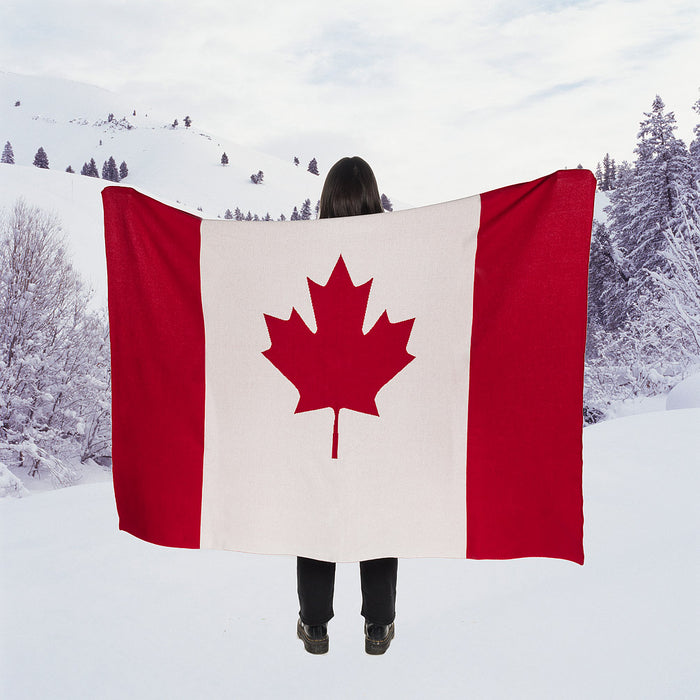 Canada Flag Throw Blanket