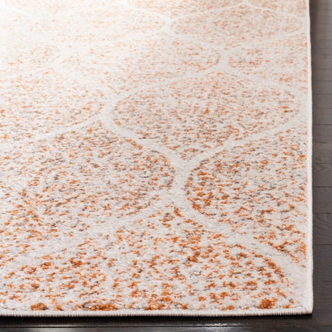 10' x 14' Orange & Cream Area Rug