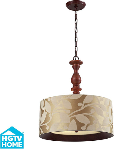 Nathan 3 Light Pendant In Dark Walnut