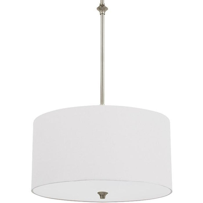STIRLING COLLECTION ONE LIGHT PENDANT BRUSHED NICKEL FINISH