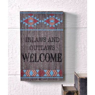 INLAWS AND OUTLAWS Wall Sign