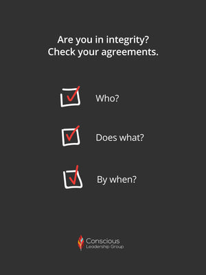 Are You in Integrity? Check Your Agreements. Poster