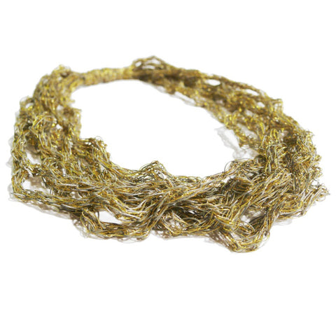 Nebula Metallic Gold Short Necklace