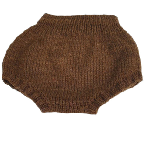 Chocolate Brown Merino Soaker
