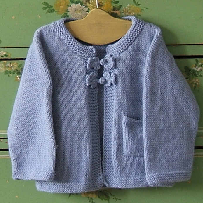Hand Knit Alpaca Baby Sweater