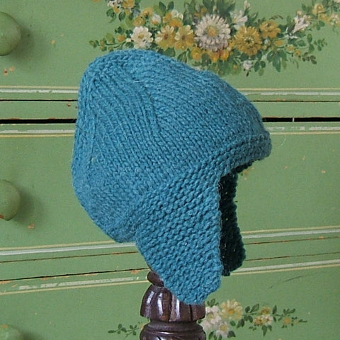 Forest Green Wool Earflap Hat