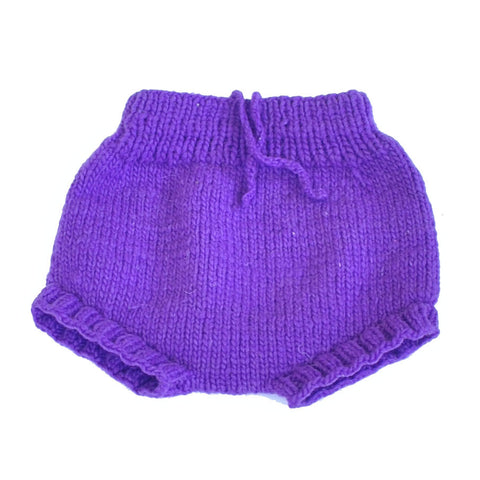 Purple Merino Wool Soaker